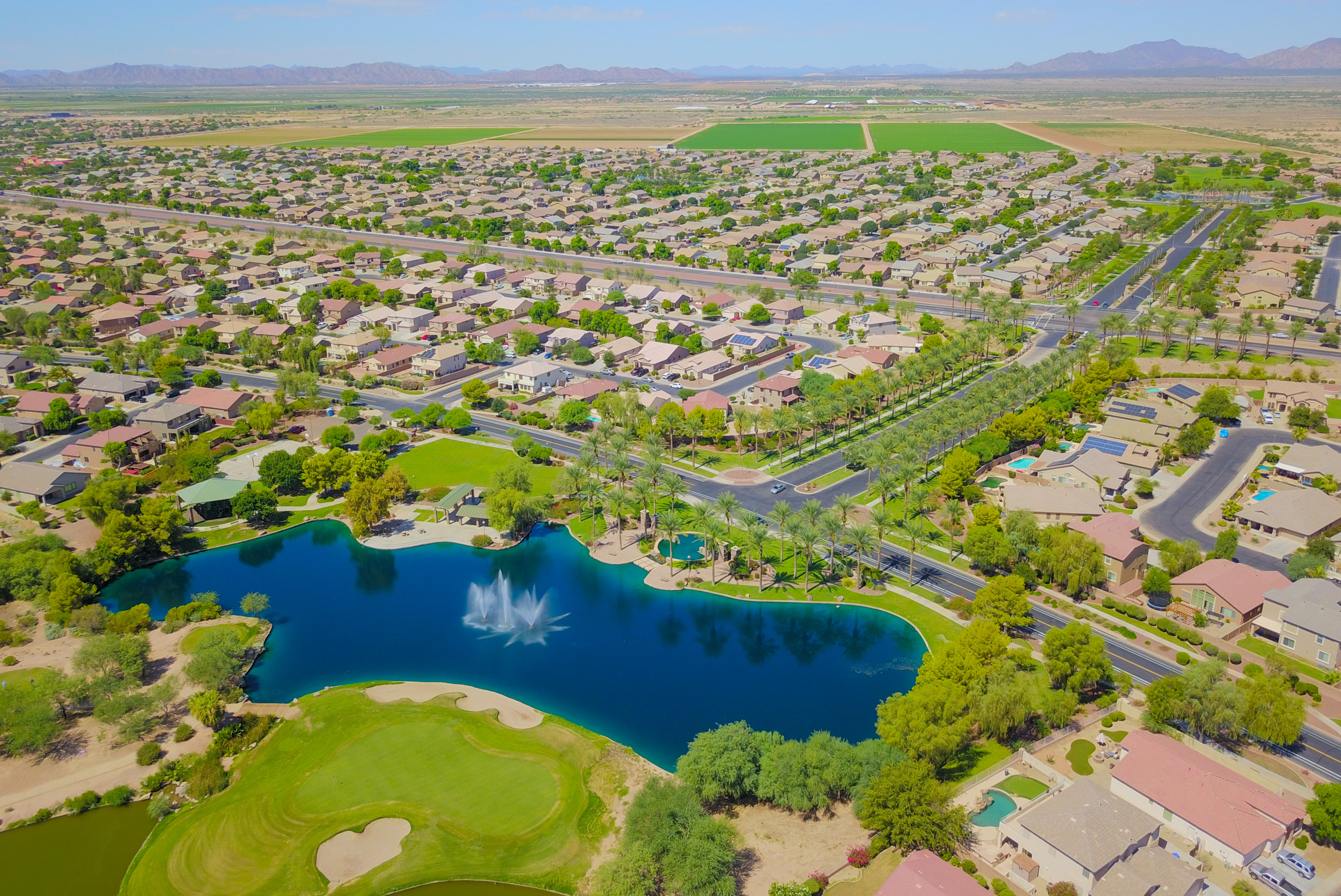 Aerial image of Maricopa properties offered by your realtor in Maricopa, AZ